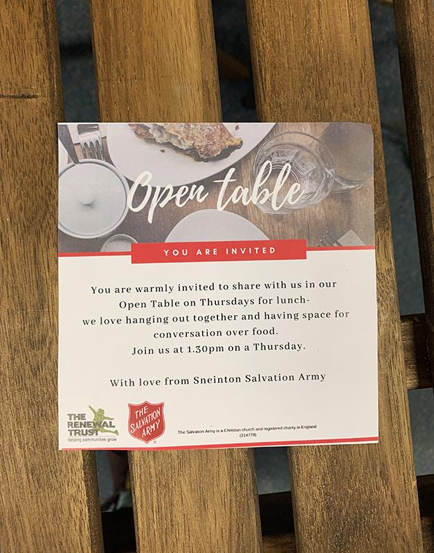 Open Table invite