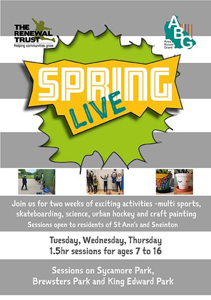 Spring Live flyer